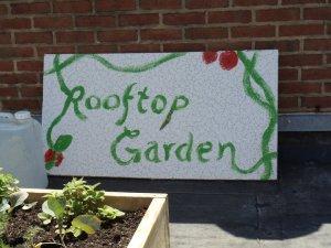 Rooftop Garden Sign