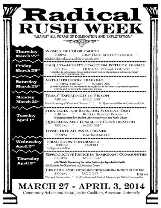American University CASJ ~ Radical Rush Week