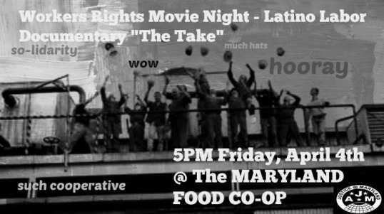 Workers Movie Night - at the Maryland Food Co-op