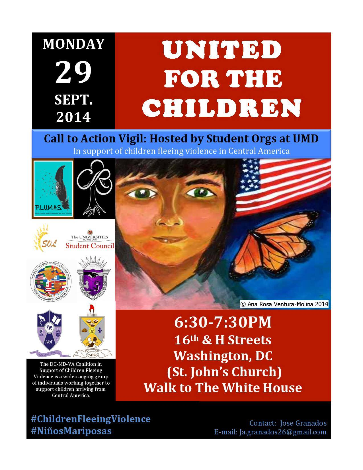 Monday september 29th migrant children vigil and call to action